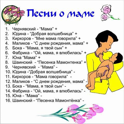 Слова песни с днем матери